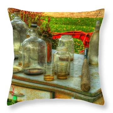Table Collections Throw Pillow by Randy Pollard