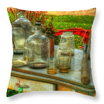 Table Collections Throw Pillow