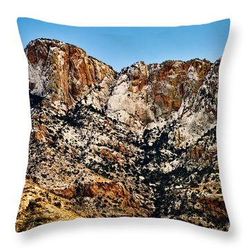 Throw Pillow featuring the photograph Table Mountain In Winter 42 by Mark Myhaver