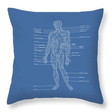 Table Of Arteries Throw Pillow