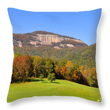 Table Rock In Autumn Throw Pillow