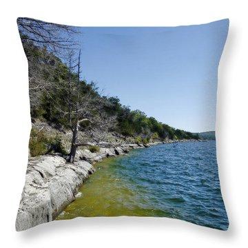 Table Rock Lake Shoreline Throw Pillow