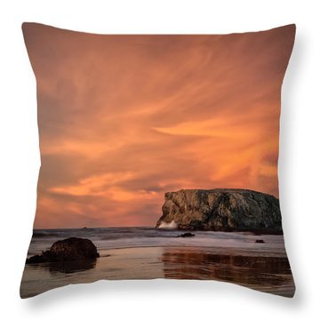 Table Rock Sunset Throw Pillow by Joe Hudspeth