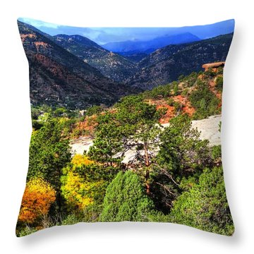 Table Rock To Pike's Peak Throw Pillow