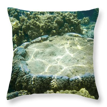 Table Top Coral Throw Pillow by Denise Bird