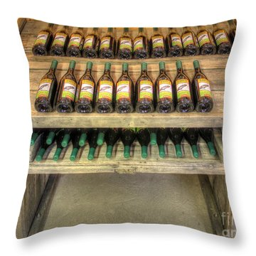 Table Wine Throw Pillow