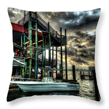 Throw Pillow featuring the digital art Tacky Jack Morning by Michael Thomas