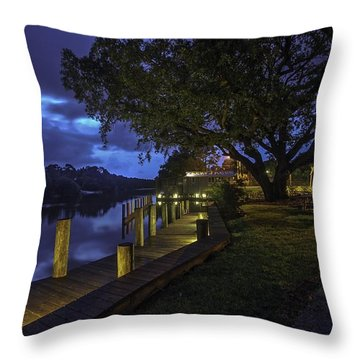 Throw Pillow featuring the digital art Tacky Jacks Before The Storm by Michael Thomas
