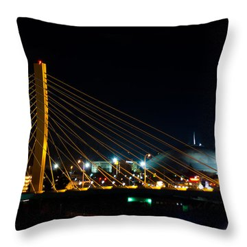 Throw Pillow featuring the photograph Tacoma Dome And Bridge by Tikvah's Hope