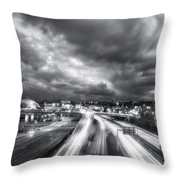 Tacoma Night Sky Throw Pillow by Ryan Manuel
