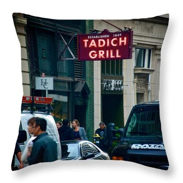 Tadich Grill Throw Pillow
