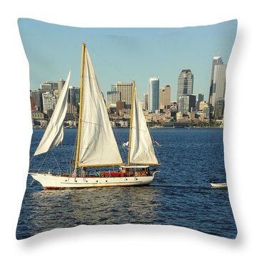 Throw Pillow featuring the photograph Mind If I Tag Along by Natalie Ortiz