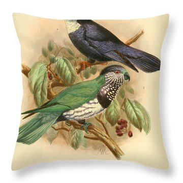 Tahiti Lory Throw Pillow