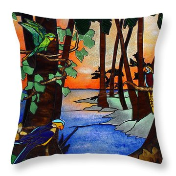 Tahiti Window Throw Pillow by Peter Piatt
