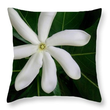 Tahitian Gardenia Throw Pillow