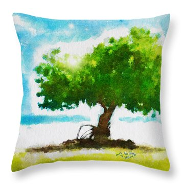 Summer Magic Throw Pillow by Greg Collins