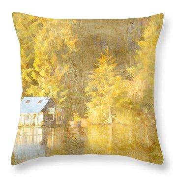 Tahkenitch Lake Oregon Throw Pillow
