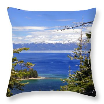 Tahoe Blue Throw Pillow