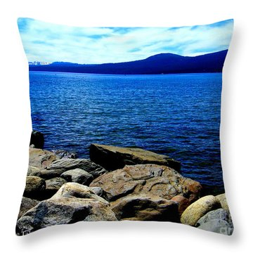 Throw Pillow featuring the photograph Tahoe Magic by Bobbee Rickard