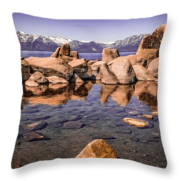 Throw Pillow featuring the photograph Tahoe Reflections by Steven Bateson