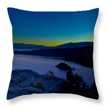 Throw Pillow featuring the photograph Tahoe Sunrise by Jim Thompson