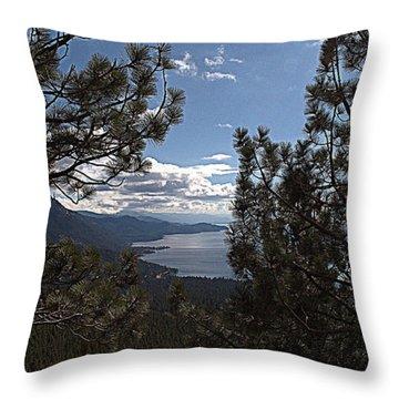 Tahoe Trees Throw Pillow
