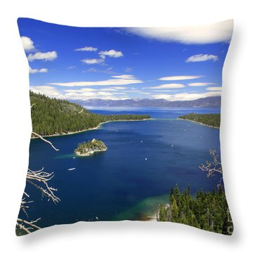 Tahoe's Emerald Bay Throw Pillow