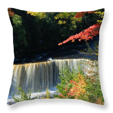 Tahquamenon Falls Autumn Throw Pillow