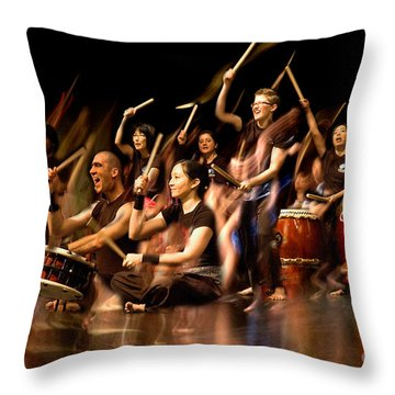 Taiko Flow Throw Pillow