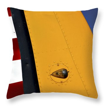 Tail Detail Of Vultee Bt-13 Valiant Throw Pillow