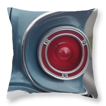 Tail Light Ford Falcon 1961 Throw Pillow by Don Spenner