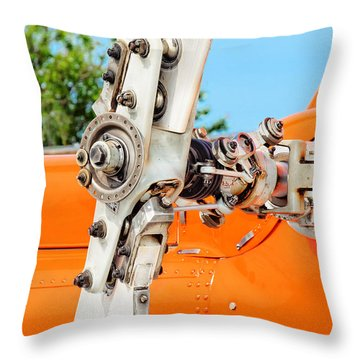 Tail Rotor Throw Pillow