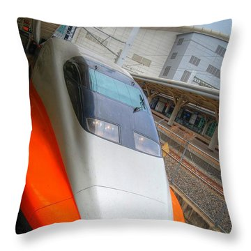 Taiwan Bullet Train Throw Pillow