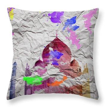 Taj Mahal Throw Pillow by Image World
