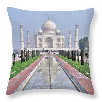 Taj Mahal Throw Pillow by Kim Bemis