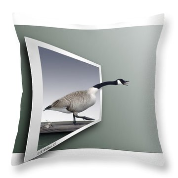 Take A Gander Throw Pillow by Brian Wallace