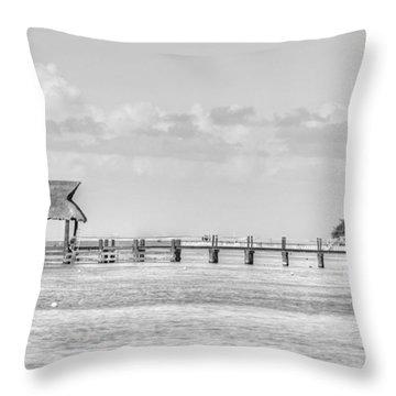 Take A Long Walk Off A Short Pier Throw Pillow