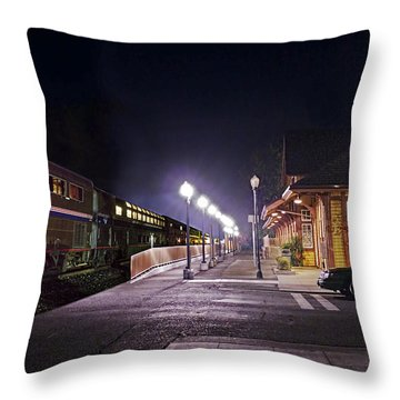 Take A Ride On Amtrak Throw Pillow