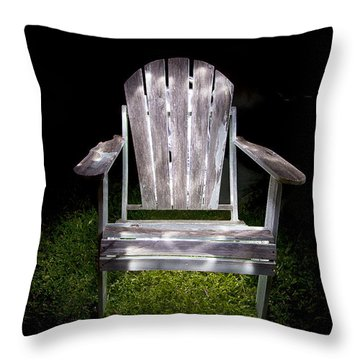 Adirondack Chair Painted With Light Throw Pillow