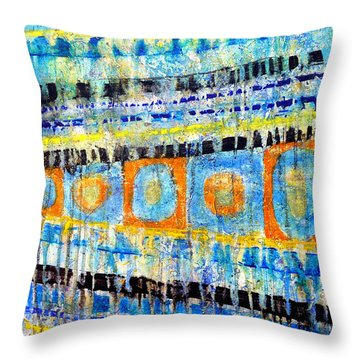 Throw Pillow featuring the painting Take Five by Jim Whalen