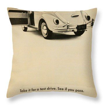 Take It For A Test Drive Throw Pillow by Georgia Fowler