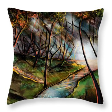 Throw Pillow featuring the painting Take Me To The River by John Jr Gholson