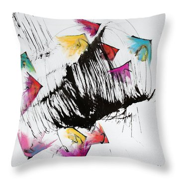 Take Off Throw Pillow by Asha Carolyn Young