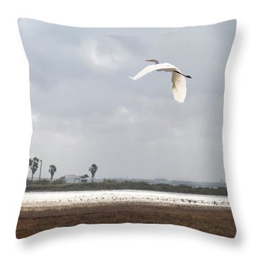 Throw Pillow featuring the photograph Take Off by Erika Weber