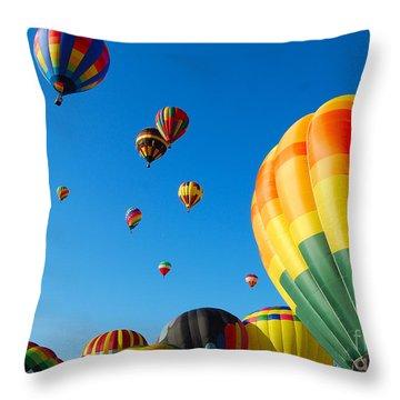 Take-off Time Throw Pillow