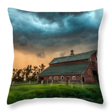 Take Shelter Throw Pillow