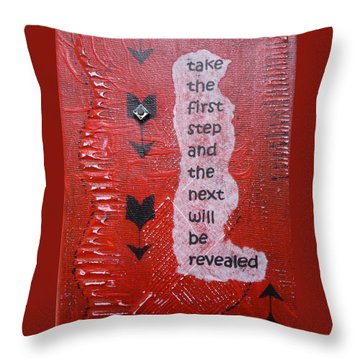 Take The First Step Throw Pillow by Gillian Pearce