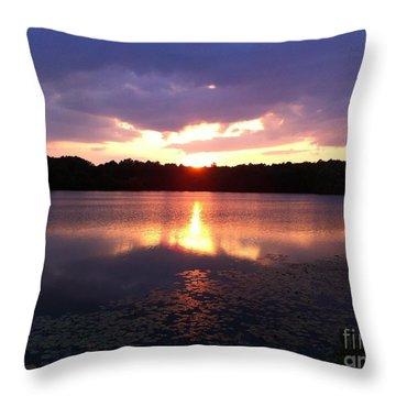 Take The Time To Enjoy The Sunset Throw Pillow