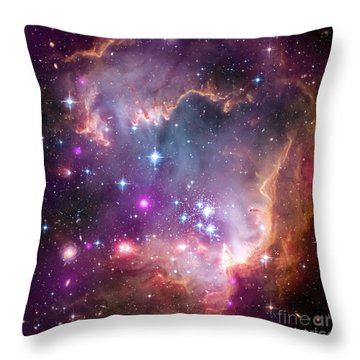 Throw Pillow featuring the  Taken Under The Wing Of The Small Magellanic Cloud by Paul Fearn
