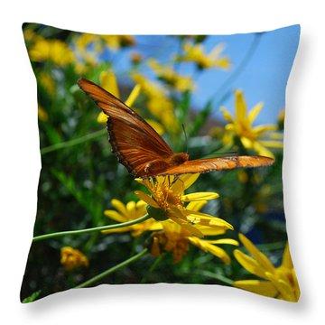 #thereisenoughbreezeinthisfantokeepmecool Throw Pillow by Becky Furgason